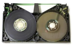 清掃後のベータのビデオテープ