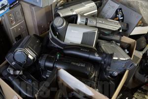 故障した8ミリビデオカメラたち