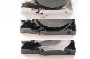 8ミリビデオテープの前ぶたロック機構